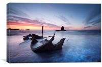 Washed Up - The Admiral at Saltwick Bay, Canvas Print