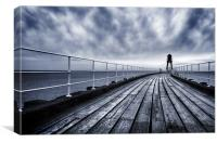 Whitby, West Pier, Canvas Print