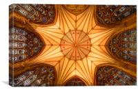 York Minster - Chapter House, Canvas Print