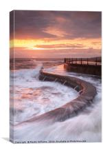 Scarborough Seas, Canvas Print