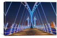 Lowry Bridge, Salford, Canvas Print