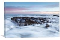 Filey Brigg Waves, Canvas Print