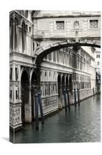 The Bridge of Sighs, Canvas Print