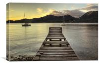 Lake Maggiore jetty, Italy, Canvas Print