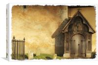 Old Church Door, Canvas Print