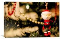 Santa Christmas Tree, Canvas Print
