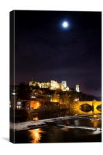 Durham Cathedral By Moonlight, Canvas Print