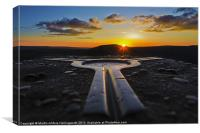 Mam Tor, Trigpoint Sunset, Canvas Print