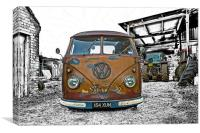 Vintage Splitty, Canvas Print