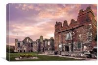 Tutbury Castle Sunrise, Canvas Print