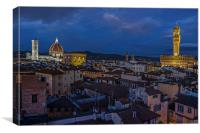 Florence Night Time, Canvas Print