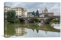 The Ponte Alla Carraia, Canvas Print