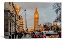 Big Ben, Westminster Golden Hour, Canvas Print