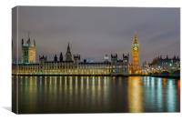 Westminster Evening, Canvas Print