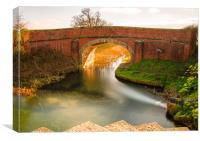 Pocklington Canal, Canvas Print