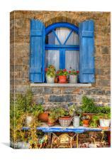 A Cretan Window, Canvas Print