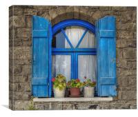 Cretean Window, Canvas Print