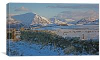 A West Cumbrian Winter, Canvas Print