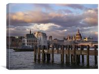 The Thames at Dusk, Canvas Print