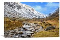 Honister Pass in Winter, Canvas Print
