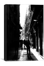 Barcelona Bario Gothic, Canvas Print
