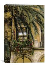 Barcelona Placa Reial, Canvas Print