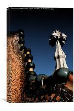 Barcelona Gaudi House Roof, Canvas Print