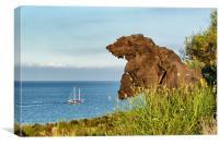 Italy_Sicily_Islands_Eolie_Vulcano_Valley_Of_Monst, Canvas Print