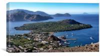 Italy_Sicily_Islands_Eolie_Vulcano, Canvas Print
