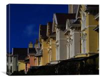 Colourful house façades., Canvas Print