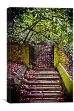 Llandaff Cathedral Steps, Canvas Print