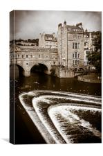 Pulteney Weir Bath, Canvas Print