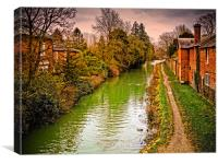 Canal at Hungerford, Canvas Print