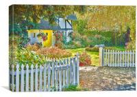Little Newton Cottage, Canvas Print