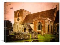 St Marys Church Kintbury, Canvas Print