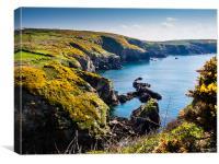 St Nons Bay Pembrokeshire, Canvas Print