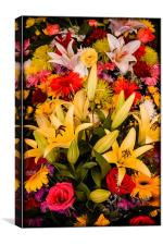 Cambodian Flower Stall, Canvas Print