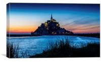 Mont St Michel Sunset, Canvas Print