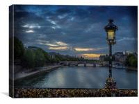 Sunrise over Paris, Canvas Print