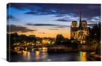 Notre Dame Cathedral, Canvas Print