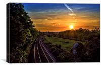 Railway to Hungerford, Canvas Print