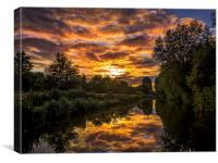 Kennet and Avon Canal, Canvas Print