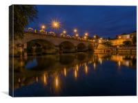 Cognac Bridge, Canvas Print