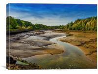 Carew River Estuary, Canvas Print
