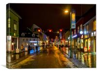 Tromso Christmas Shopping, Canvas Print