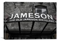 Jamesons Sign, Canvas Print