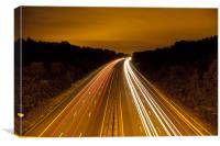 Motorway Light Trails, Canvas Print
