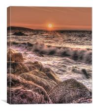 Wisemans Bridge Beach Sunrise, Canvas Print