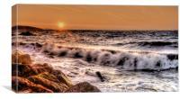 Waves crashing on the rocks, Canvas Print