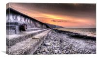 Early morning view at Amroth, Canvas Print